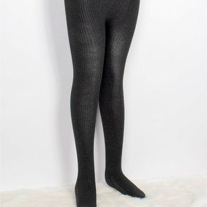 Comfortable Stretchy Full-length Footed Ribbed Tights